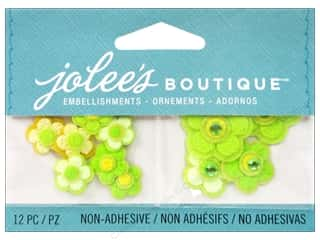 Cording Flowers: Jolee's Boutique Embellishments Cherry Blossoms Green