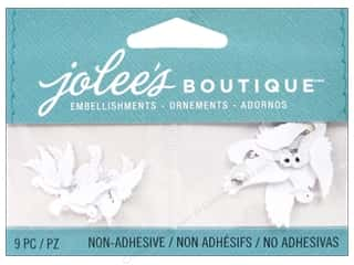EK Jolee's Boutique Embellishment Mini White Doves