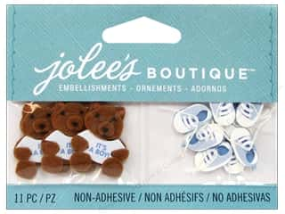EK Jolee's Boutique Embellishment Baby Boy Bear And Booties
