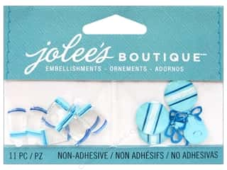 EK Jolee's Boutique Embellishment Baby Boy Bottles And Rattles