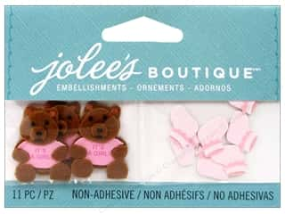 EK Jolee's Boutique Embellishment Baby Girl Bear And Booties