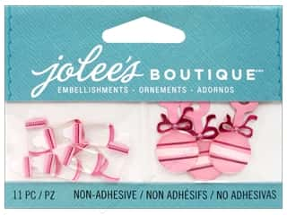 EK EK Jolee's Boutique Embellishment Baby Girl Bottles And Rattles