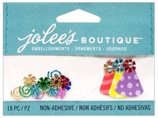 Rhinestones Birthdays: Jolee's Boutique Embellishments Confetti and Party Hats