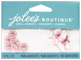Jolee's Boutique Embellishments Pink Daisies and Butterflies