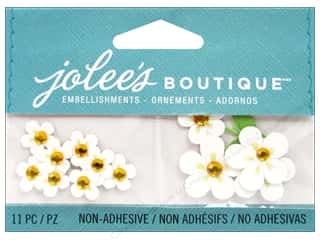 Craft Embellishments Flowers: Jolee's Boutique Embellishments Mini White Flowers