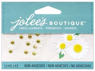 EK Jolee's Boutique Embellishment Mini White Daisies