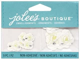 EK Jolee's Boutique Embellishment White Roses