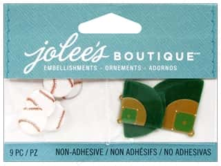 EK Success Craft Embellishments: Jolee's Boutique Embellishments Baseballs