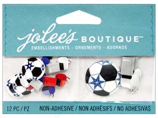 Metal Sports: Jolee's Boutique Embellishments Soccer Balls and Whistles