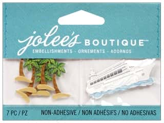 2013 Crafties - Best Adhesive: EK Jolee's Boutique Palm Trees And Cruise Ship