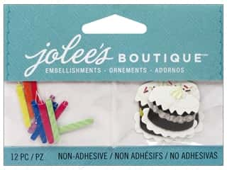 Jolee's Boutique Embellishments Birthday Candles and Cakes