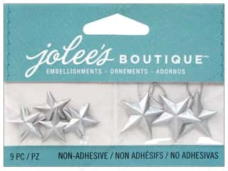EK Success Craft Embellishments: Jolee's Boutique Embellishments Silver Vintage Stars