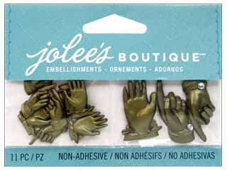 EK Success Craft Embellishments: Jolee's Boutique Embellishments Brass Vintage Hands