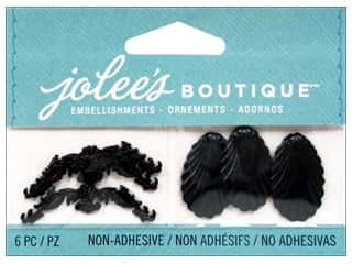 Craft Embellishments Black: Jolee's Boutique Embellishments Black Antique Shell and Flourish