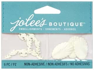 Jolee's Boutique Ivory Antique Shell and Flourish