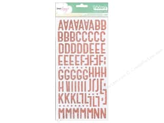 American Crafts Thickers Alphabet Stickers Treasure Poppy Glitter
