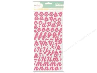 American Crafts Thickers Alphabet Stickers Charm Foam Salmon