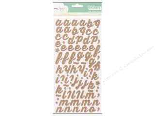 American Crafts Thickers Alphabet Stickers Charm Foam Oatmeal