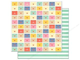 American Crafts Paper 12x12 Lucky Charm Rainbows (25 piece)