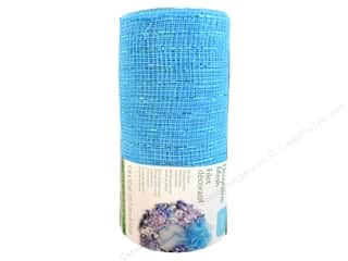 FloraCraft Decorative Mesh Turquoise 6 in. x 10 yd.
