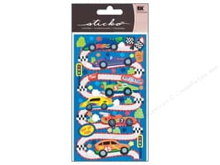 Transportation Stickers: EK Sticko Stickers Race Car Rama