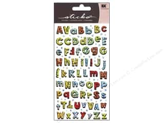 Glitter ABC & 123: EK Sticko Alphabet Stickers Small Playful ABC