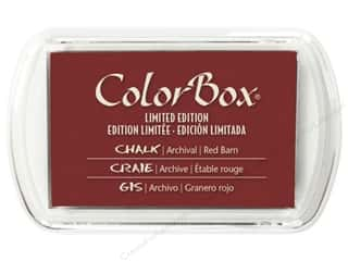 Stamping Ink Pads Burgundy: ColorBox Fluid Chalk Inkpad Full Size Limited Edition Red Barn
