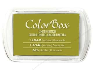 Clearance ColorBox Fluid Chalk Mini Ink Pad: ColorBox Fluid Chalk Ink Pad Full Size Limited Edition Guacamole