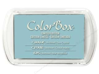 Inks inches: ColorBox Fluid Chalk Inkpad Full Size Limited Edition Sea Crystal