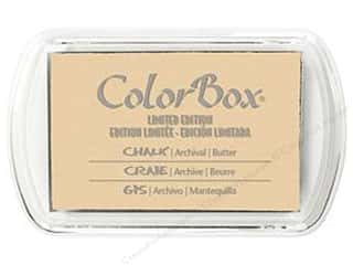 Stamping Ink Pads Ink, Ink Pads & Brayers: ColorBox Fluid Chalk Inkpad Full Size Limited Edition Butter