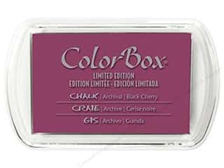 Stamping Ink Pads Clearance Crafts: ColorBox Fluid Chalk Inkpad Full Size Limited Edition Black Cherry