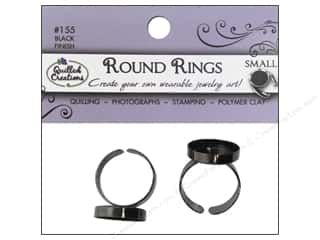 Quilled Creations Jewelry Art Ring Round Small 2pc