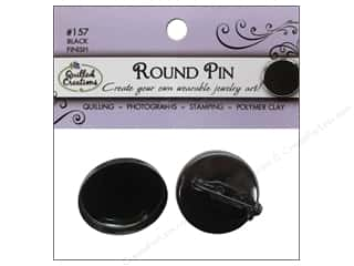 Quilled Creations Jewelry Art Pin Round 2pc