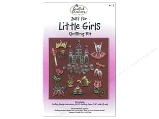 Straight Stitch Rubber Stamping: Quilled Creations Quilling Kit Just for Little Girls