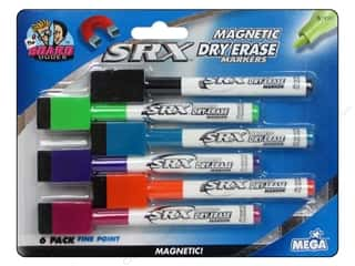 Erasers Dry Erase Boards: The Board Dudes Magnetic Dry Erase Markers with Erasers 6 pc. Fine Point