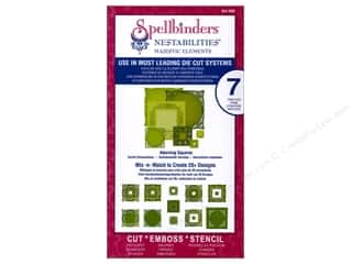 Paper Pieces Templates: Spellbinders Nestabilities Majestic Elements Die Adorning Squares