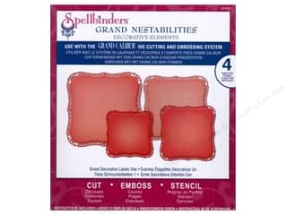 Embossing Aids $6 - $9: Spellbinders Grand Nestabilities Decorative Elements Die Grand Decorative Labels One
