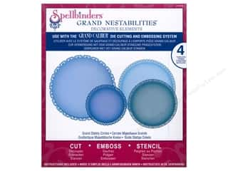 "Spellbinders 6"": Spellbinders Grand Nestabilities Die Grand Stately Circles"