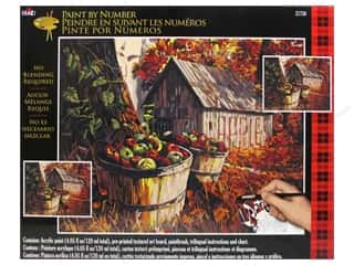 Crafting Kits Fall Sale: Plaid Paint By Number 16 x 20 in. Apple Harvest Barn