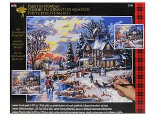 Projects & Kits Winter: Plaid Paint By Number 16 x 20 in. Glow of Winter Lights