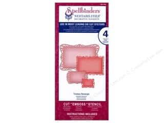 Spellbinders Metal Stencils: Spellbinders Nestabilities Decorative Elements Die Timeless Rectangles