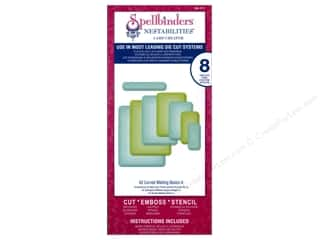 Embossing Aids Hot: Spellbinders Nestabilities Card Creator Die A2 Curved Matting Basics A