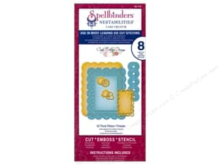 Spellbinders Nestabilities A2 Floral Ribbon Threader