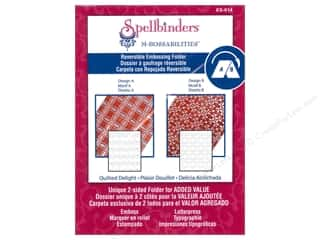 Embossing Aids Spellbinders Embossing Folder: Spellbinders Embossing Folder M Bossabilities Quilted Delight