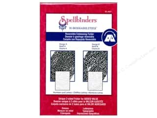 Embossing Aids ABC & 123: Spellbinders Embossing Folder M Bossabilities Numbers & Letters