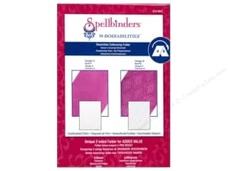 Spellbinders Embossing Aids: Spellbinders Embossing Folder M Bossabilities Graduated Dots