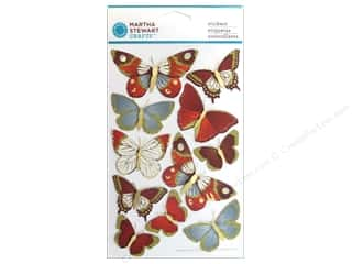 Martha Stewart Sticker Elegant Nature Metallic Butterfly