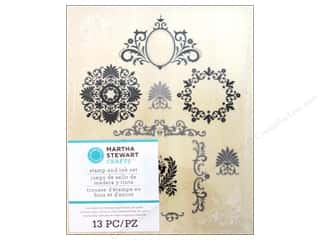 Martha Stewart Wood Stamp Set Flourish