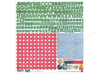 BasicGrey Alphabet Stickers Mint Julep