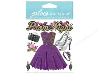 stickers  -3D -cardstock -fabric: Jolee's Boutique Stickers Prom Night